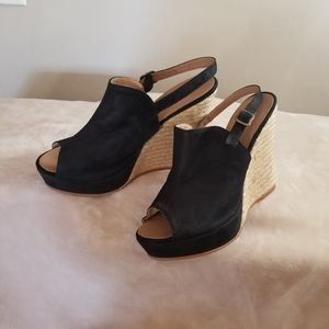 Eric Michael Womens Wedges Sandals ( Black)
